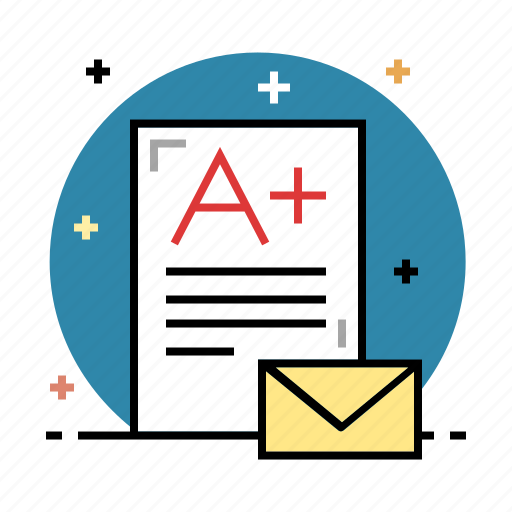 certificate, education, evaluation, exam, grade, performance, school icon