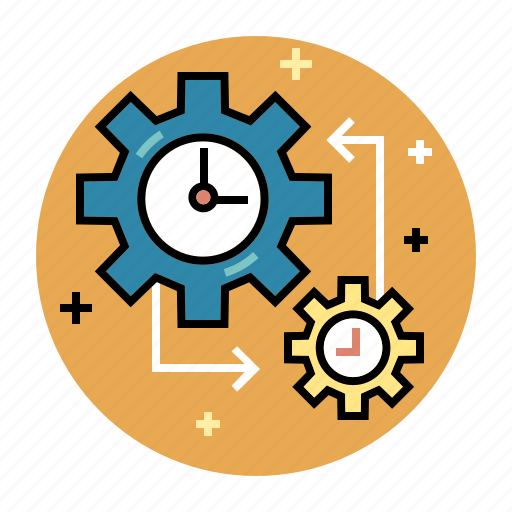 development, efficiency, goal, management, schedule, strategy, success icon