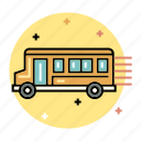 bus, education, school, student, transport, transportation, vehicle icon