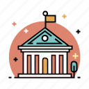 campus, college, education, knowledge, library, school, university icon