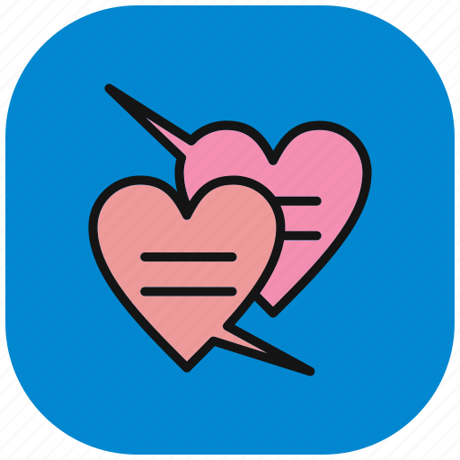 chat, communication, hat love, interaction, love, speech, valentine icon