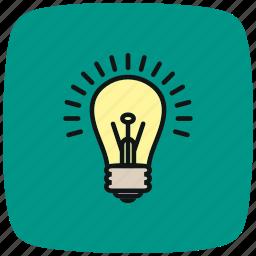 bulb, electric, electricity, energy, lamp bulb, light, lightbulb icon