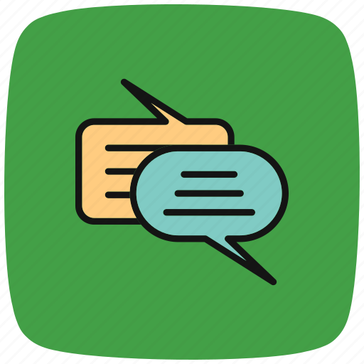 chat, chat into, communication, into, sms, speech, talk icon