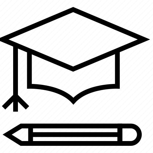 edit, education, education cap, graduation, knowledge, mastery, pencil icon
