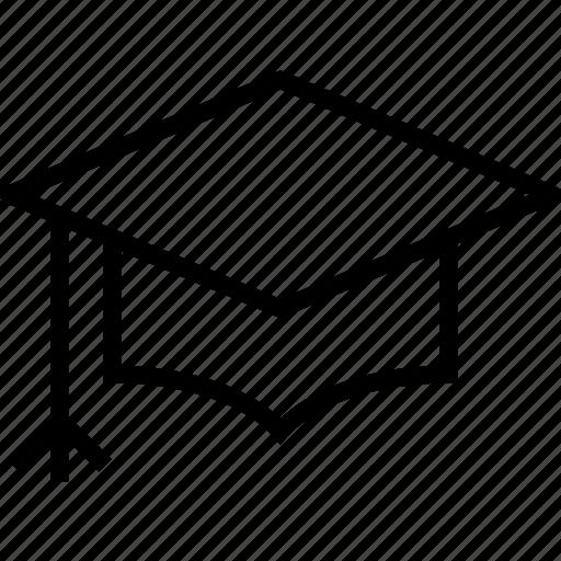 academia, cap, diploma, education, graduate, graduation, school icon