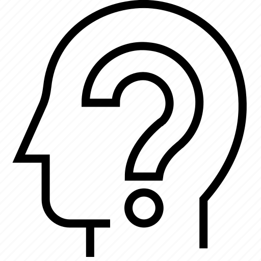 ask, brainstorm, head, help, mind, question, thinking icon