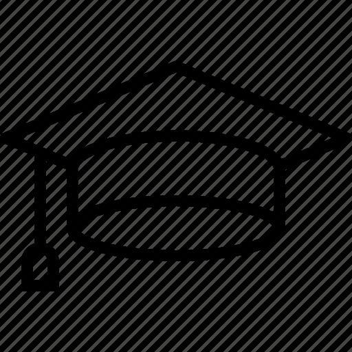 academia, cap, diploma, education, graduate, graduation icon