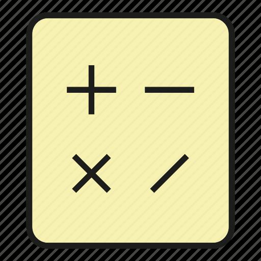 calculate, calculator, compute, maths, minus, multiply, plus icon