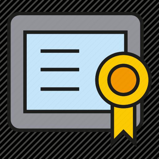 box, certificate, diploma, graduation, qualification, testimonial, winner icon