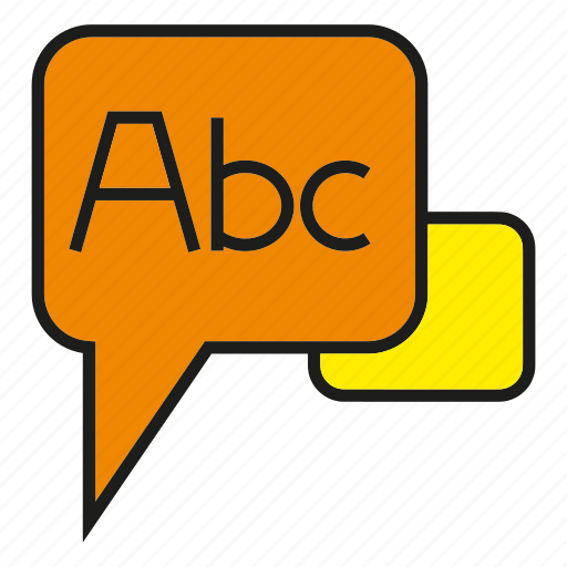 english, speech, talk, text icon
