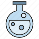 bubble, chemistry, equipment, experiment, lab, test, tube icon
