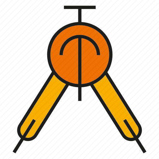 compasses, dividers, stationery, tool icon