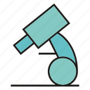biology, equipment, microscope icon