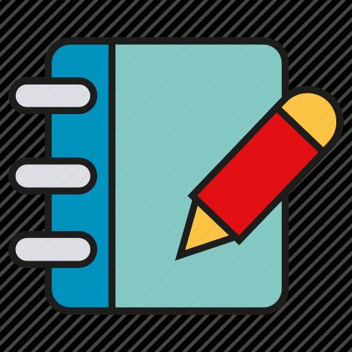 book, note, pen, pencil, write icon