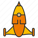 fly, launch, rocket, sky icon