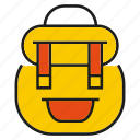 bag, knapsack, packet, school bag icon