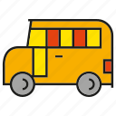 bus, car, school bus, transport, vehicle icon