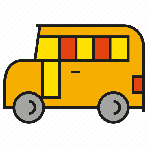 bus, car, school bus, transport, vehicle icon