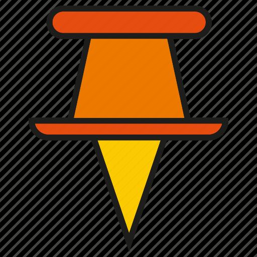 nail, pin, pointer, tack icon