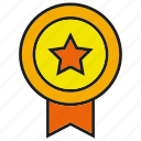 award, badge, emblem, hornor, prize, star, winner icon