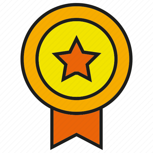 award, badge, emblem, hornor, prize, star, winner icon