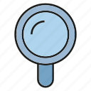 magnifier glass, view, zoom icon