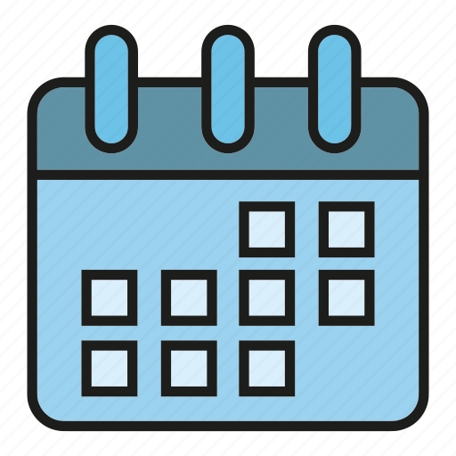 calendar, date, schedule, table, time icon