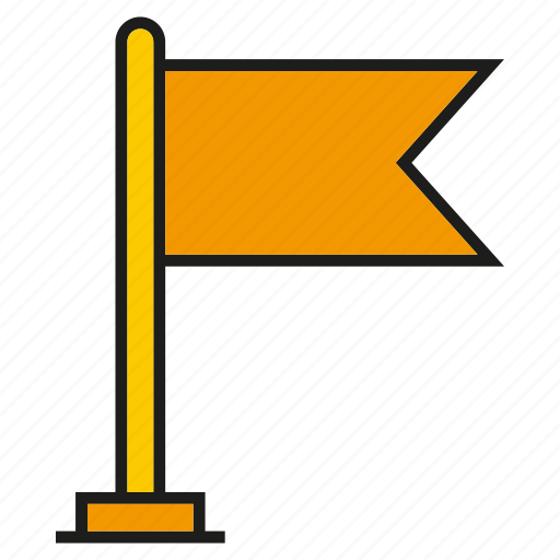 flag, goal, success, target, winner icon