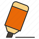 highlighter, marker, pen icon