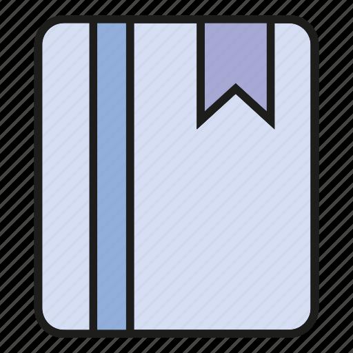 book, book mark, note, read icon