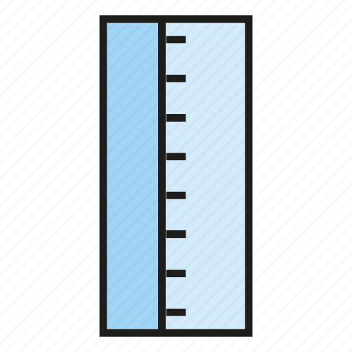 measure, ruler, scale, stationery icon