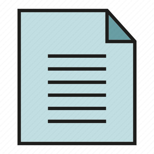 file, memo, note, paper icon