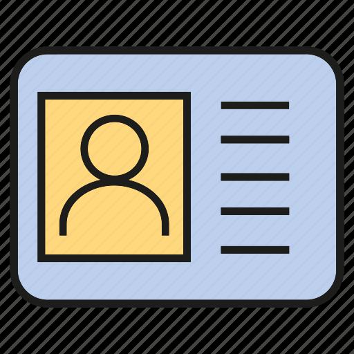business card, card, id card, profile icon