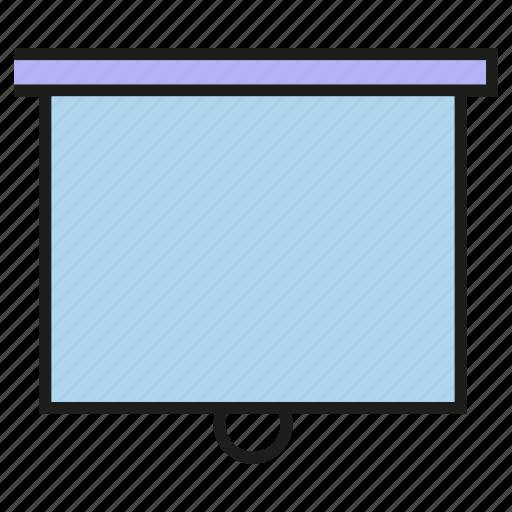 lecture, present, slide, white board icon