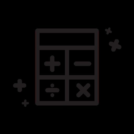 Calculate, calculator, doodle, education, line, school, vector icon