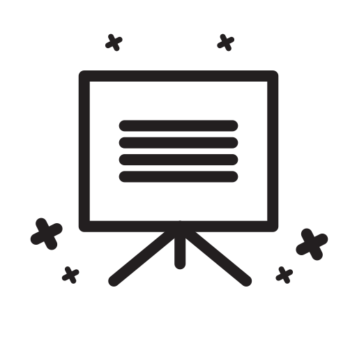 board, doodle, education, presentation, school, study, vector icon