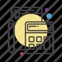 book, calculator, learn, maintenance, pencil, teaching icon