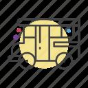 bus, school, student, truck icon