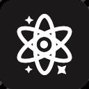 atom, education, educational, graduate, school, schooling, study icon