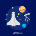 astronomy, galaxy, planets, science, solar, telescope icon