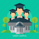 campus, ecology, green, nature, plant icon
