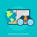 book, education, knowledge, school, searching, study icon