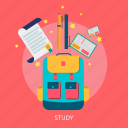 book, desk, education, learning, school, study icon