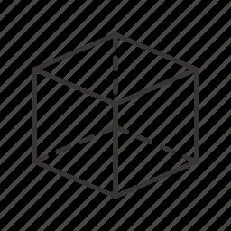 box, cube, design, game, shape icon
