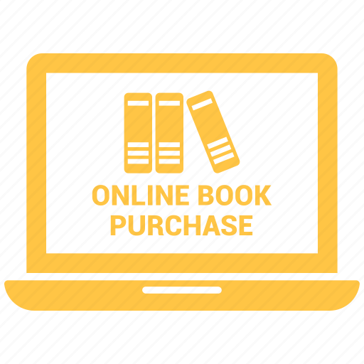 book, file send, laptop, online, purchase icon