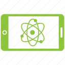 atom, chemistry, education, experiment, laboratory, mobile icon