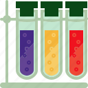 chemical, flacons, flask, laboratory, reagents, science, vessel icon