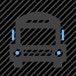 automobile, deliver, drive, schol bus, transportation, van, vehicle icon