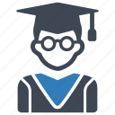 education, graduation, student icon
