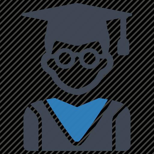 education, graduation, student icon